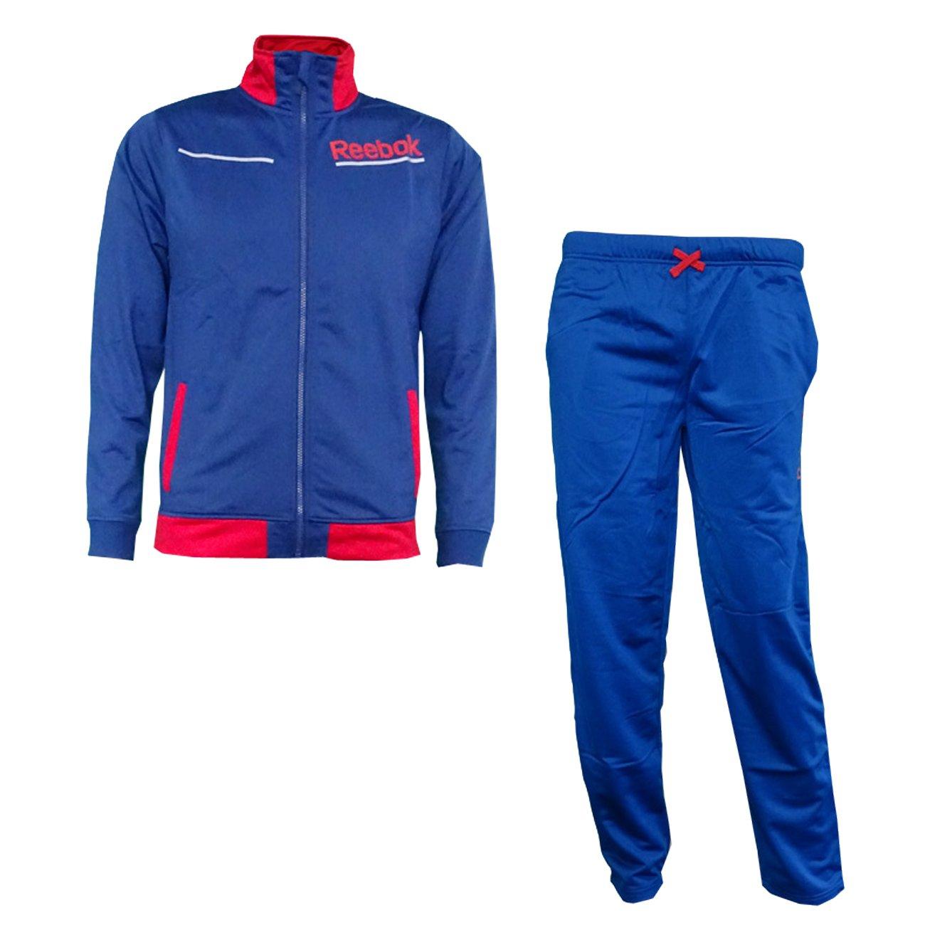Reebok b03302 Joven Chándal para hombre - Color Azul/Rojo, todo el ...