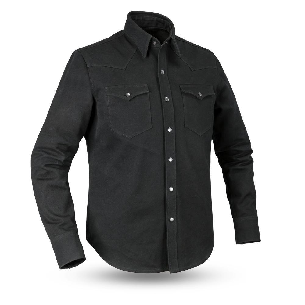 First Mfg Co First Manufacturing Men's Forsythe Canvas Shirt (Black, Medium) (