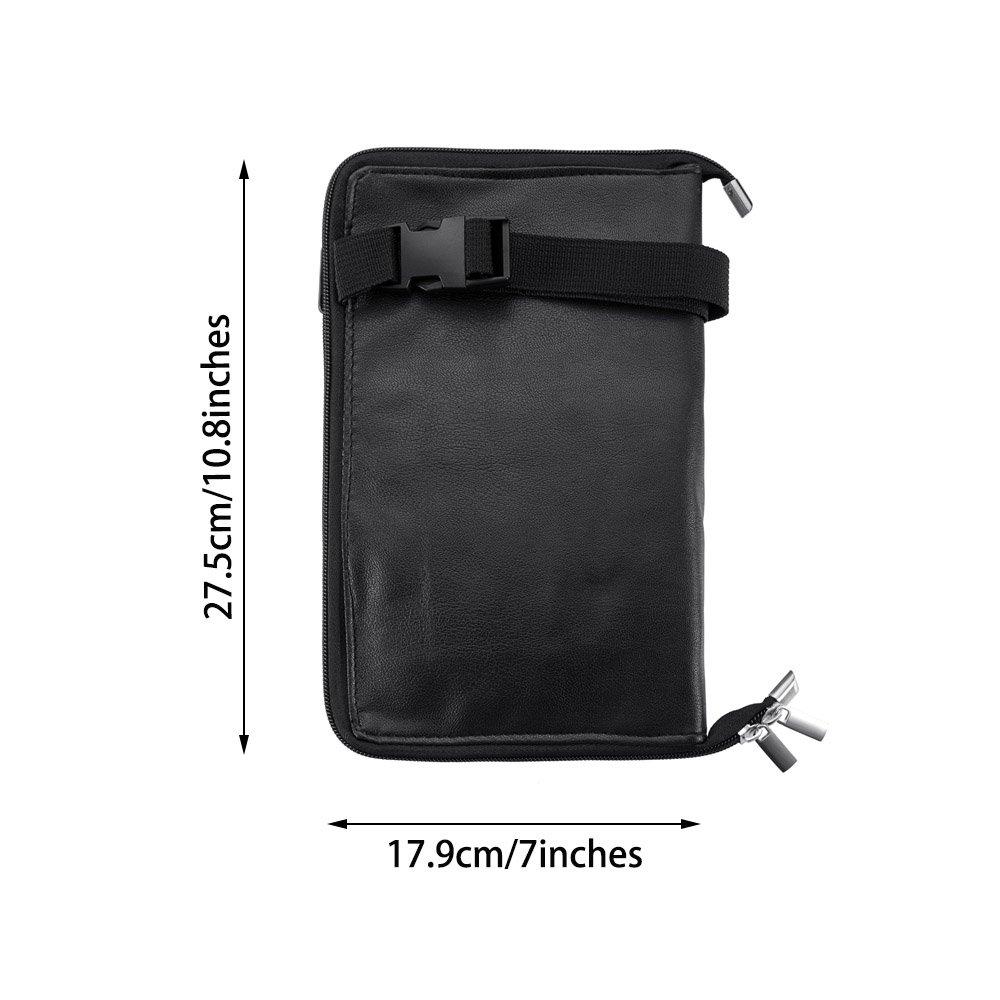 WasonD 32 Pockets Cosmetic Makeup Brush Organizer Belt Bag with Artist Strap + 2 Washing Brush Scrubber by WasonD (Image #3)