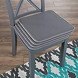 Lavish Home 82-TEX1044DGY Chair Cushions, Dark Gray