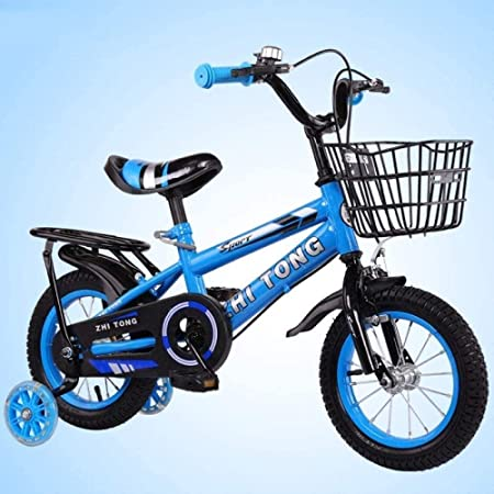 YONGYONGCHONG Carretilla Asiento Posterior de la Bicicleta Bicicletas Freestyle for niños de 14 Pulgadas de Bicicletas niños del bebé del Carro de bebé Hombres Mujeres Niños de Bicicletas Triciclo: Amazon.es: Hogar
