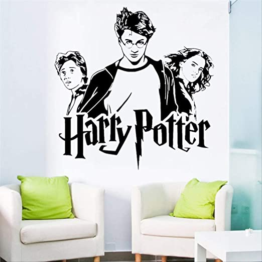 hzcl Harry Potter Trío Ron Hermione Vinilo Pared Calcomanía ...
