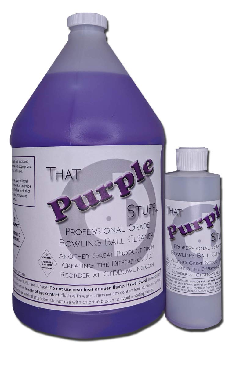 Creating the Difference That Purple Stuff Bowling Ball Cleaner | Gallon | Free 8 oz Bottle