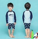 Jshuang Boys 3Piece Rash Guard Swimsuits Kids