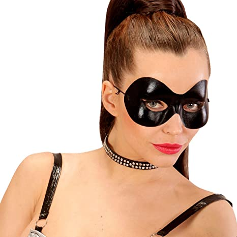 Trucco Halloween Catwoman.Net Toys Maschera A Meta Viso Nera Maschera Domino Catwoman