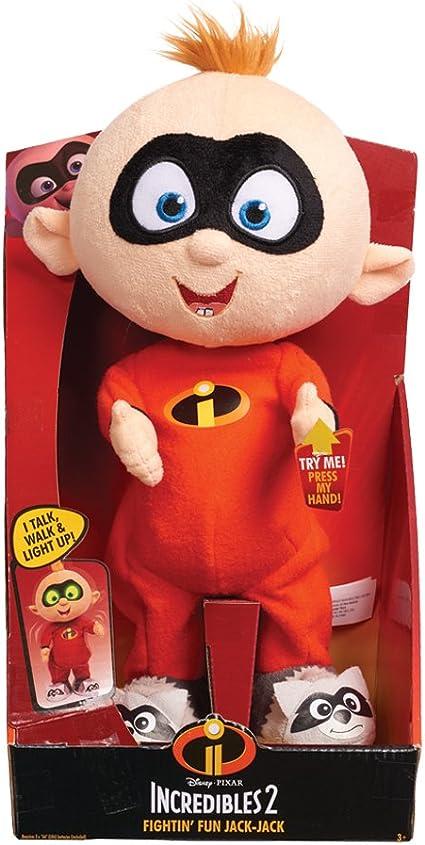 Disney The Incredibles 2 Fightin/' Fun Jack-Jack Plush Soft Toy NEW