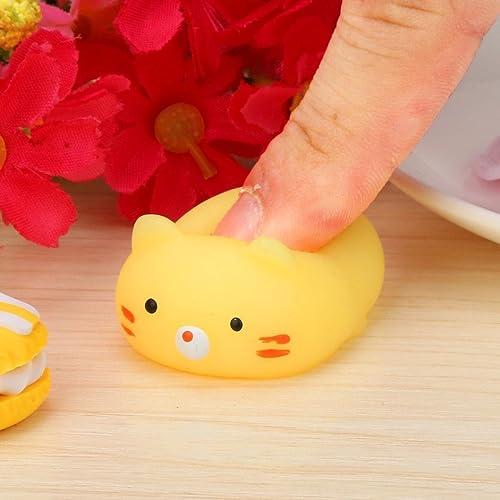 Yoyorule Cute Mini Mochi Squishy Cat Squeeze Healing Fun Kids Kawaii Toy Stress Reliever Slow Rising Hand Wrist Toy H