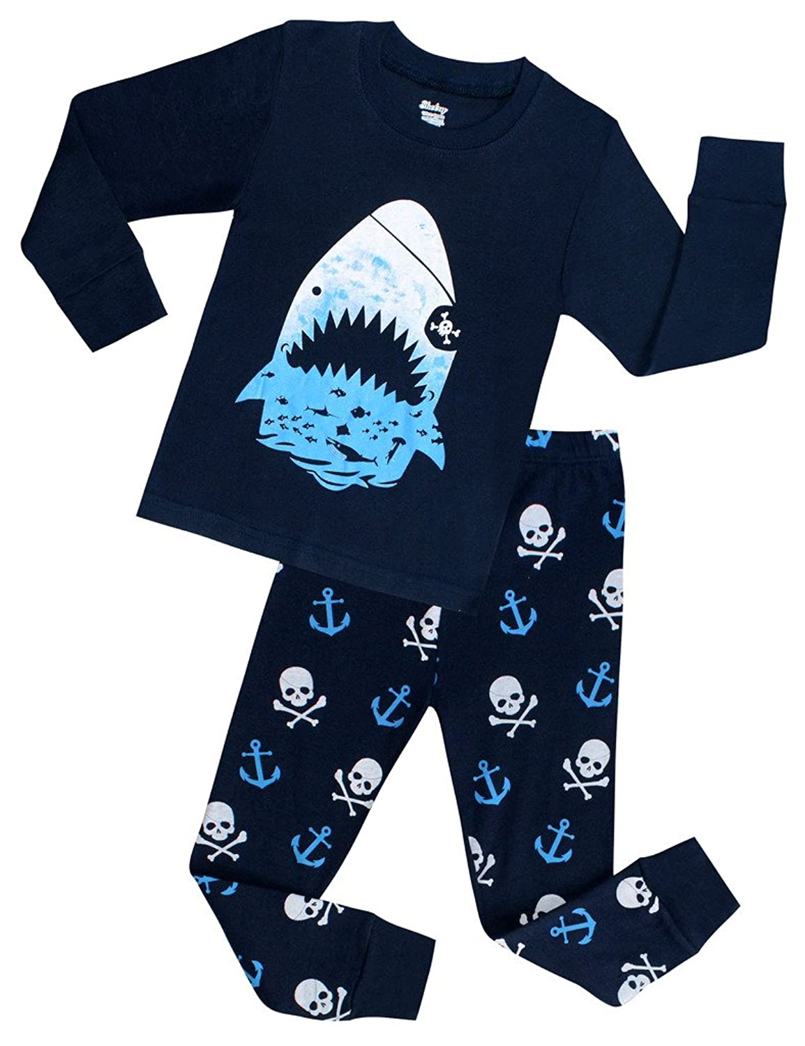 com boys shark pajamas children christmas pjs kids clothes com boys shark pajamas children christmas pjs kids clothes size 3 years clothing