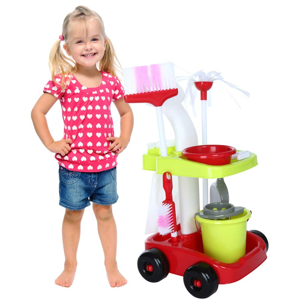 ASfairy Childrens Cleaning Set- Broom, Mini Sweeper, Toy Cleaning Supplies That Work! by ASfairy-Toy (Image #2)