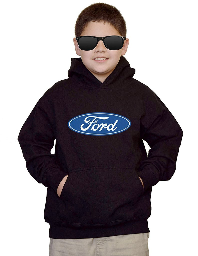 Youth Ford Logo Black kids Sweatshirt Hoodie Medium