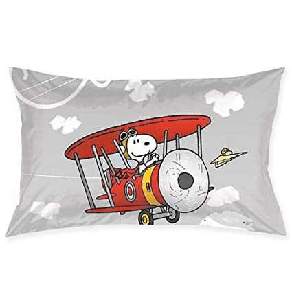 Amazon Com Pillow Cases Snoopy Flying With Airplane Throw Cushion