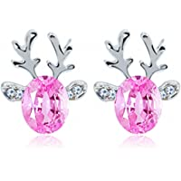 Crystal Earrings,WINWINTOM Christmas Crystal Reindeer Antlers Earrings
