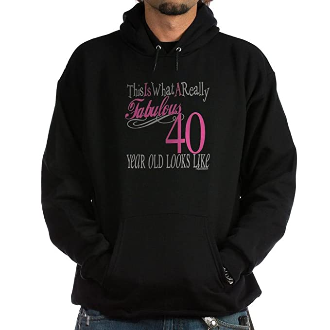 4a50a5afffa Amazon.com  CafePress 40th Birthday Gifts Hoodie (dark) Sweatshirt ...