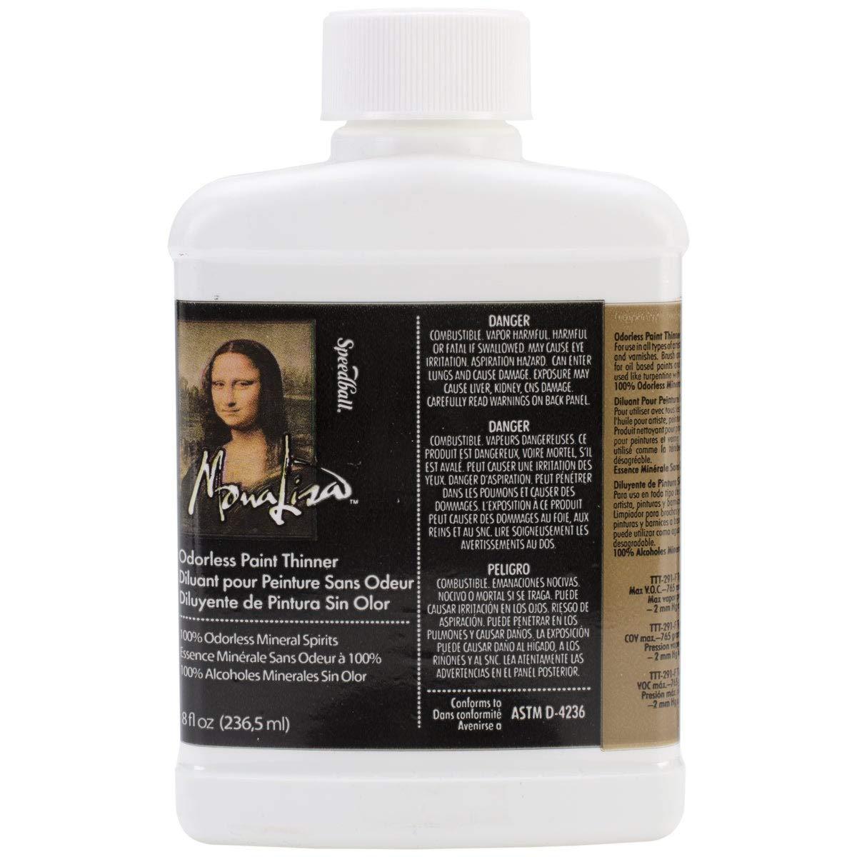 Speedball Art Products 190008 8-Ounce Mona Lisa Odorless Paint Thinner by Speedball