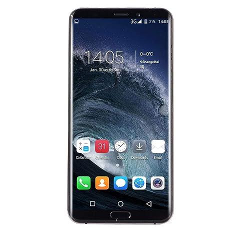 Haihuic Fábrica desbloqueada 3G Smartphone, Pantalla Completa de 5.1 Pulgadas Android 5.1, 1G RAM 8GB ROM, Dual SIM, Doble cámara, ID de Rostro WiFi GPS ...