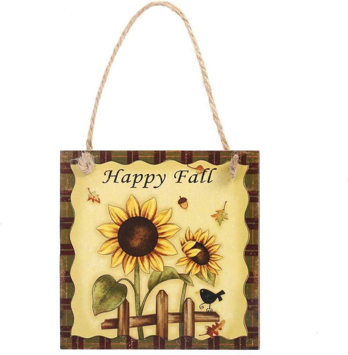 Thanksgiving Door Decorations Happy Fall Hanging Decorations Plaque Sign Harvest Thanksgiving Door Hanger