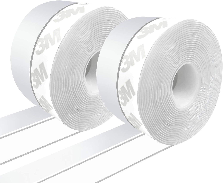 """Glass Door Fit for 8mm Glass Door Seal Strip 98 Inch Frameless Shower Door Sweep to Stop Shower Leaks Weatherproof Shower Door Seal Strip Silicone Rubber Sweep 1//3/"""" U Type"""