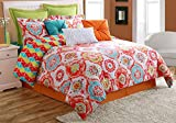 Fiesta 3 Piece Ava Comforter Set - Twin - with Coordinating Bed Skirt & Pillow Sham