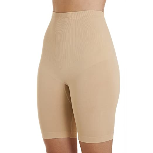 7c794fdd52 Camille Womens Ladies Beige Seamfree Shapewear Control Thigh Slimmer  Support Briefs  Camille  Amazon.co.uk  Clothing