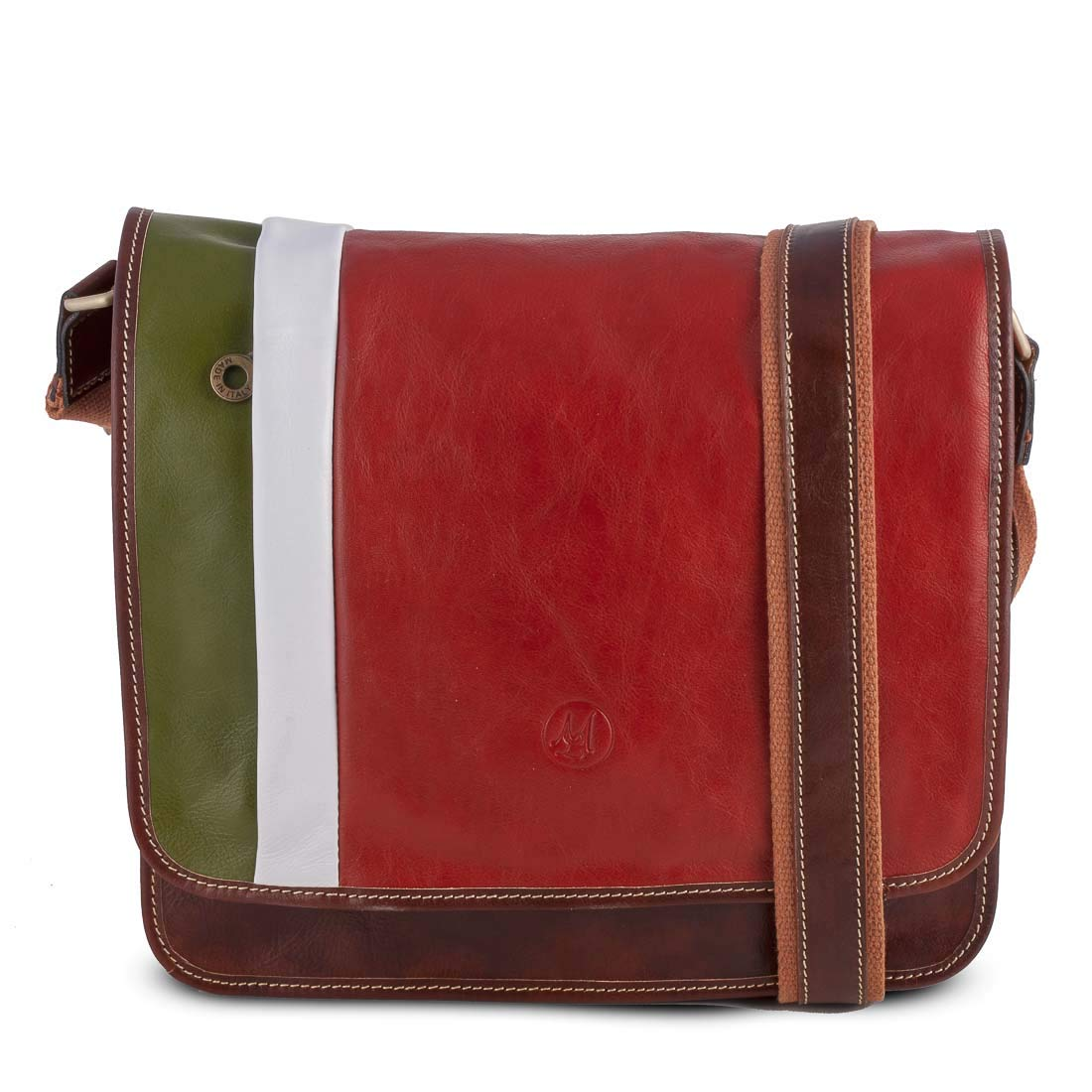 Messanger Italy Bag in Leather 10x32 H29 cm MICHELANGELO Genuine Leather Calf-Skin Italy ITALY