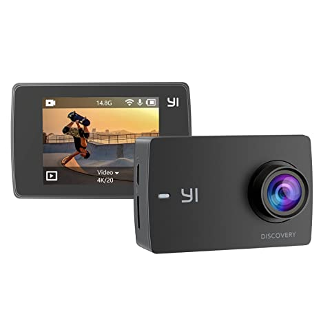 yi cámara 4 K Cámara Sport 8 MP LCD táctil WiFi Deportes ...