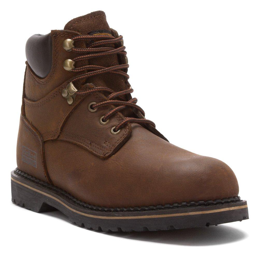 Mcrae Industrialメンズブラウンレザーレースアップで6 Soft Toe Work Boots B002YS0B32 16 2E US|ダークブラウン ダークブラウン 16 2E US