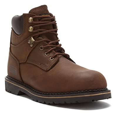 "Industrial Men's 6"" Hiking Boot Steel Toe Brown"
