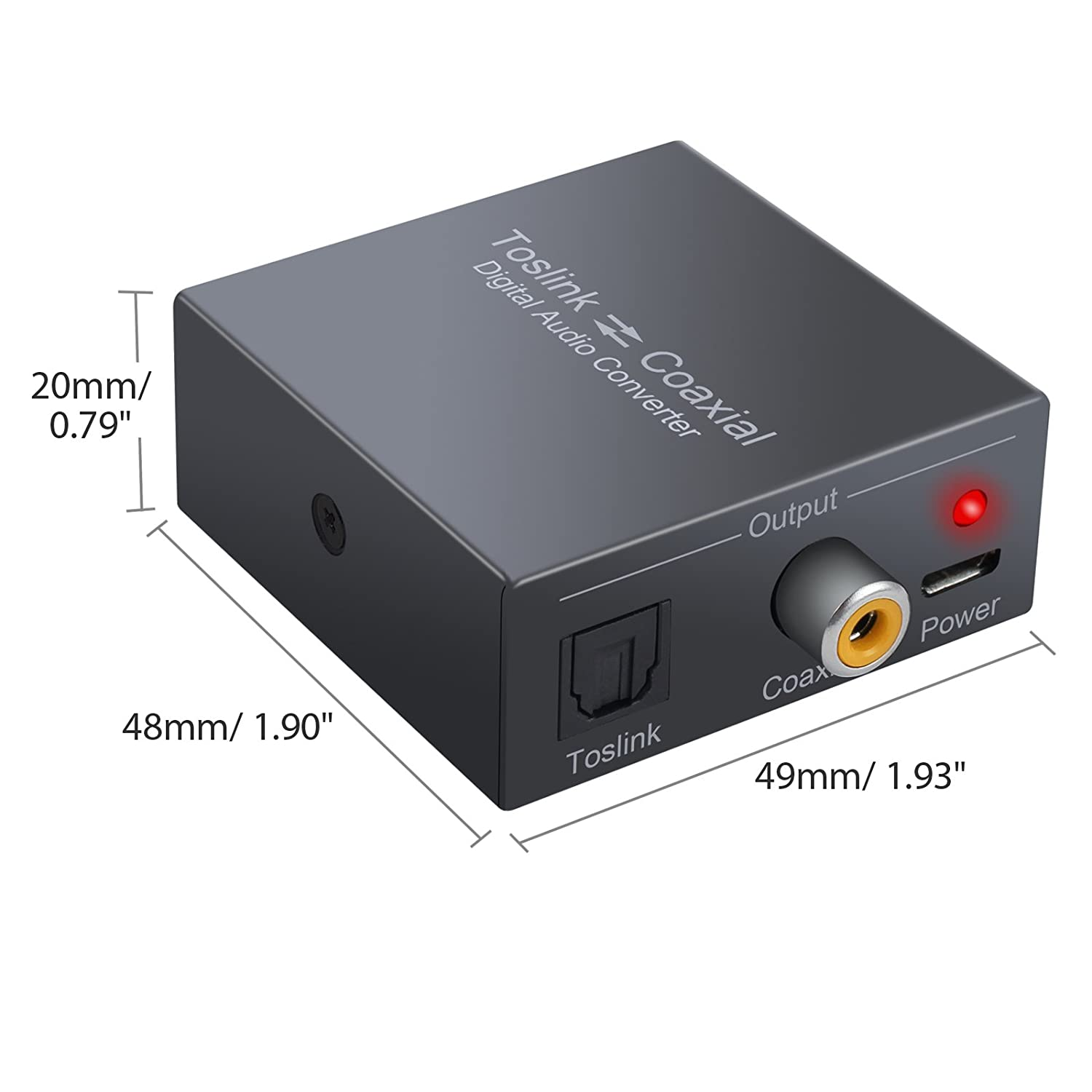 Amazon.com: CAMWAY Digital Audio Converter Optical SPDIF Toslink to Coaxial and Coaxial to Optical SPDIF Toslink Bi-derectional Swither SPDIF Coaxial and ...