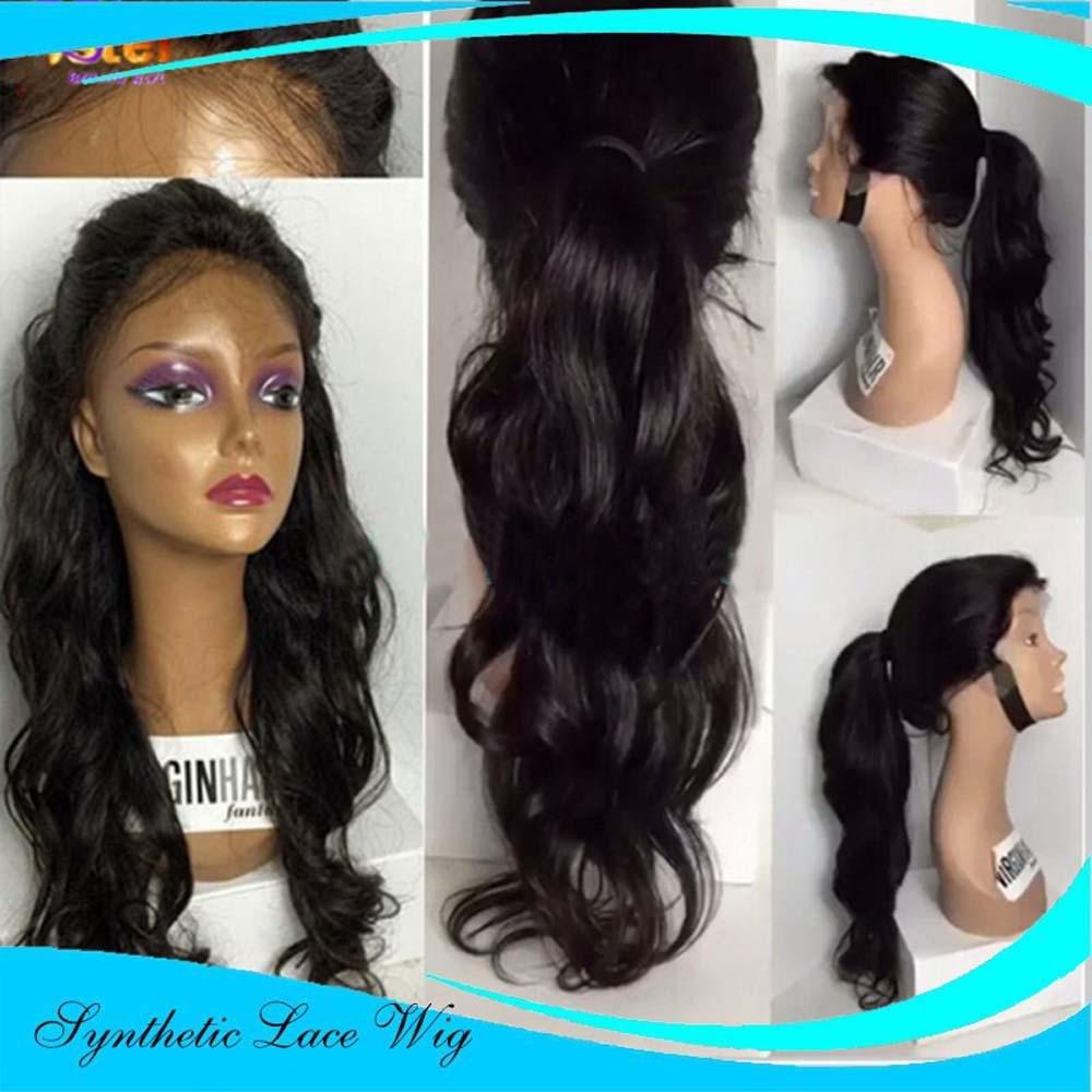 MZP Long Naturalwig pelo rizado, peluca de encaje de de de pelo ondulado Women Party Synthetic Wigs , 28 inches 7239c9