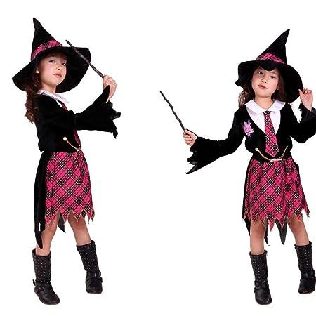 Disfraz de disfraces de Halloween Capa de bruja para niños ...