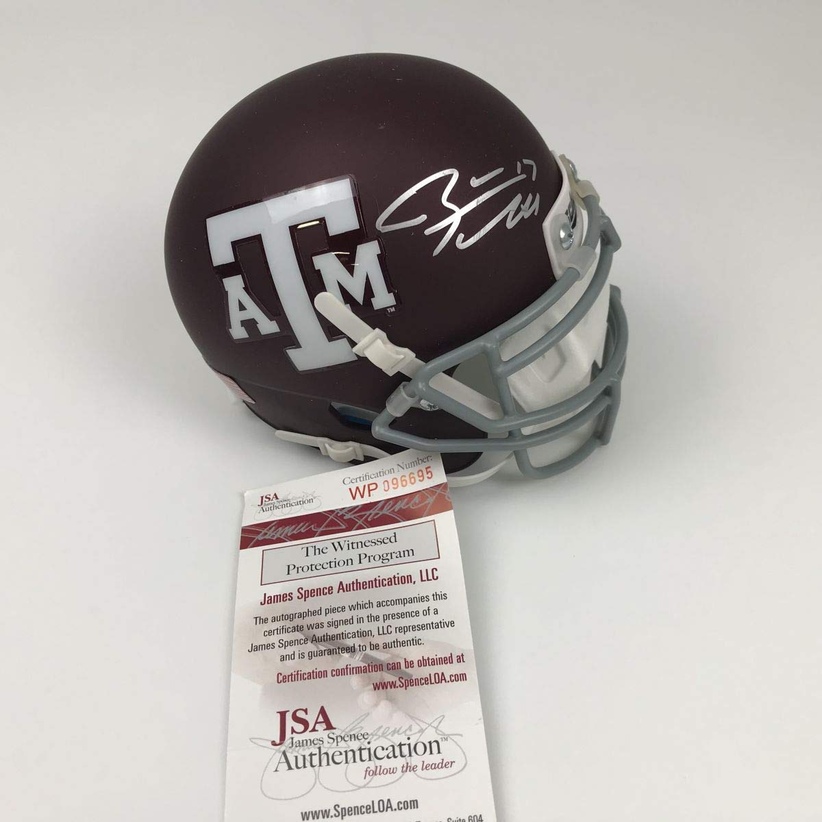 JSA Certified Authentic Myles Garrett Autographed Signed Texas A/&M Maroon//Black Riddell Speed Mini Helmet