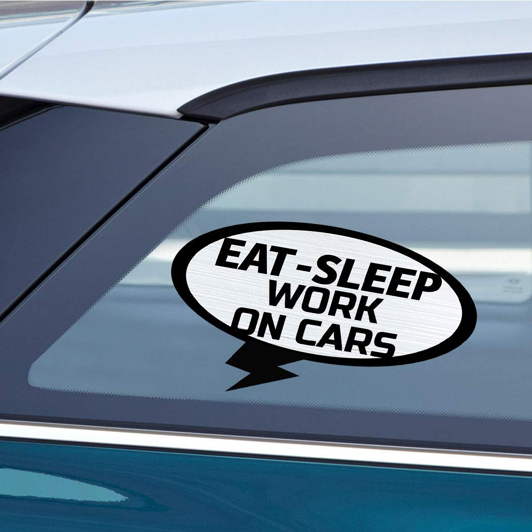 Amazon com eat sleep work on cars car laptop wall sticker decal 3 5by6small or 5by9large automotive
