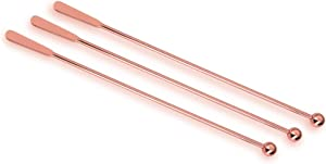 7.4 inches Stainless Steel Coffee Beverage Stirrers, Coffee Stir Stick, Cocktail Swizzle Stick Stirrers Set of 3