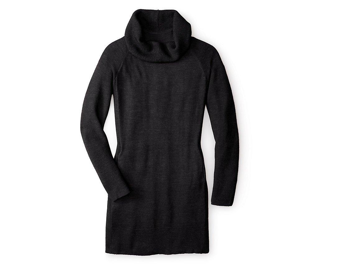 Smartwool Women's Granite Falls Sweater Dress (Charcoal Heather) Medium