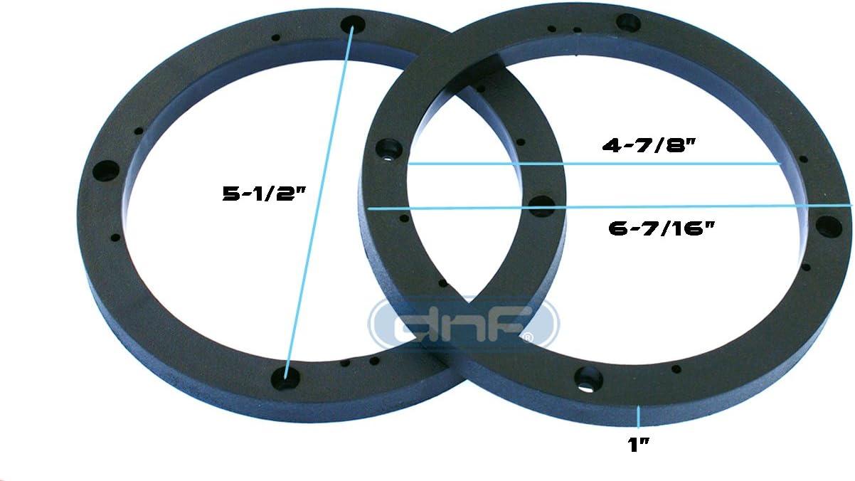 6 1//2 1 Speaker Spacer Depth Extender Ring 6.5 2