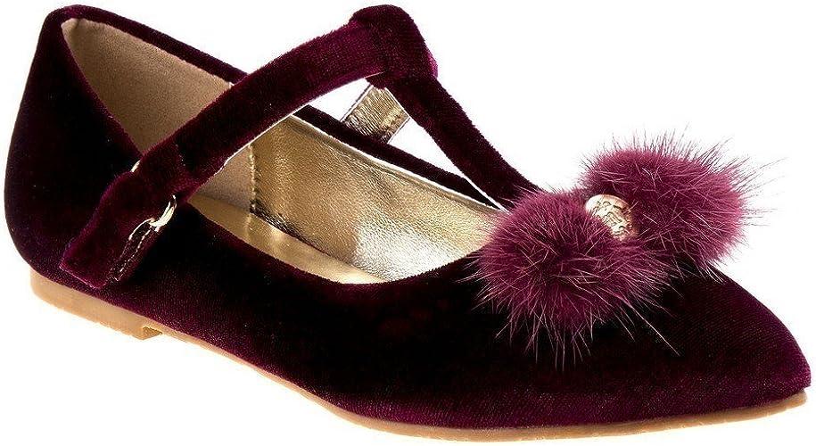 Nanette Lepore Girls Burgundy Velvet