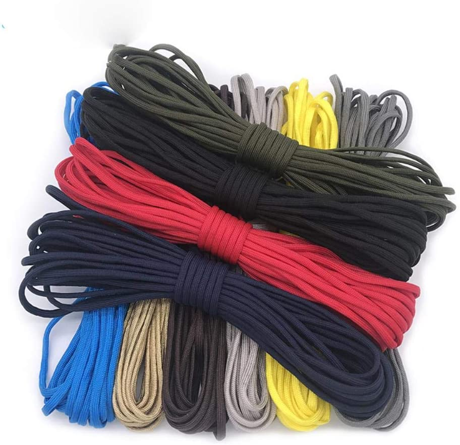 5 Meters  Dia.4mm 7 stand Cores Paracord for Survival Parachute Cord Lanyard