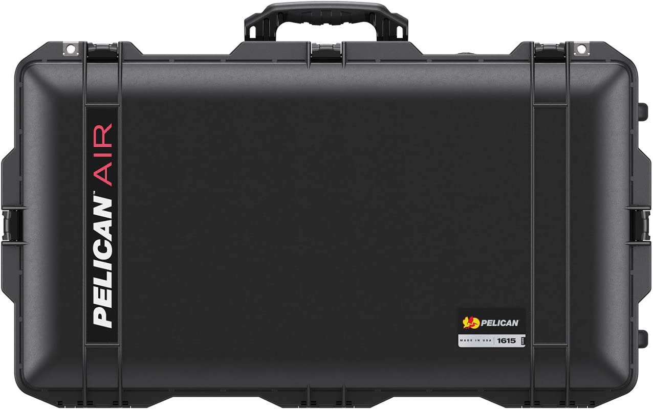 Pelican Air 1615 Case No Foam - Black 016150-0011-110 2020 Edition with Push Button Latches