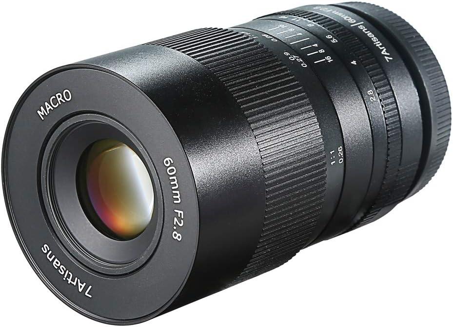 7artisans 60mm F2.8 Macro Lens APS-C Manual Fixed Lens for M4//3 Mount Cameras Panasonic G1 G2 G3 G4 G5 G6 G7 GF1 GF2 GF3 GF5 GF6 GM1 Olympus EMP1 EPM2 E-PL1 E-PL2 E-PL3 E-PL5
