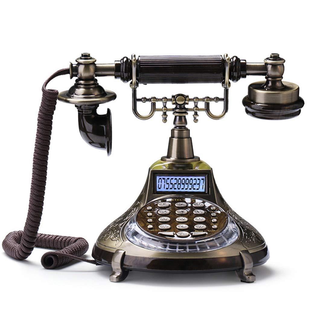 ZYN アンティーク電話の音楽リダイヤル雷保護プリダイヤルボタン NYZ B07LDQGB91