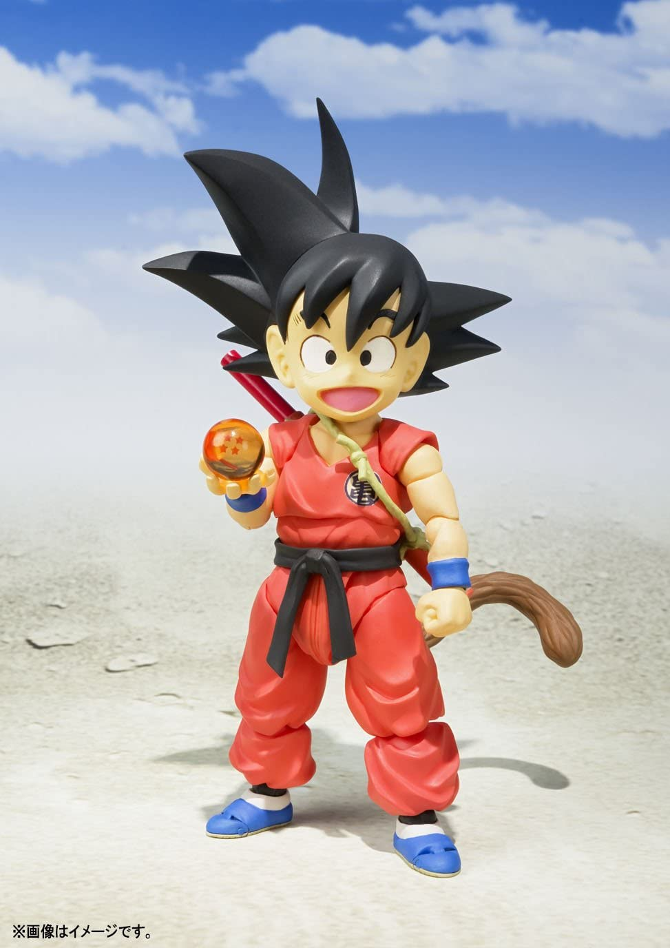 BANDAI- Goku Niño Figura 10 Cm Dragon Ball SH Figuarts, Multicolor ...