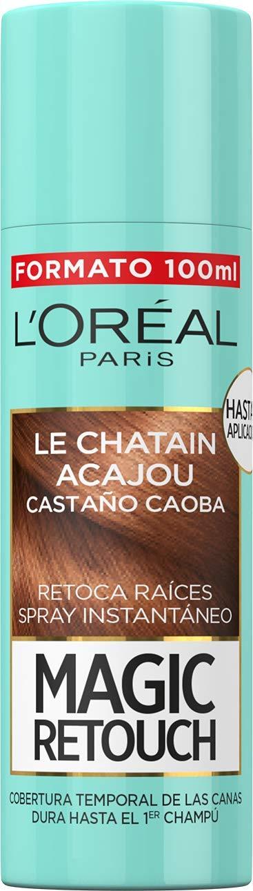L'Oréal Paris Magic Retouch Spray Retoca Raíces y Canas, Castaño Caoba - 100 ml
