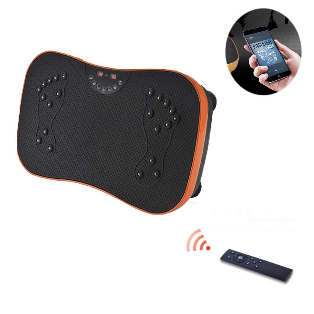 Fitness Vibration Platform Vibration Plate Wireless Remote Control for Massage and Sports Fat Reduction,Orange