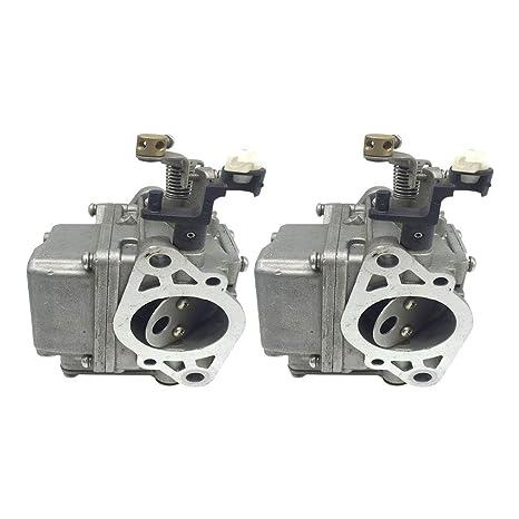 Gazechimp 2 Pedazos Carburador de 2 Tiempos Motor Fueraborda ...