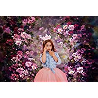 Kate 7x5ft Abstract Photography Backdrops Painting Pink Flowers Photo Background for Princess Backdrop