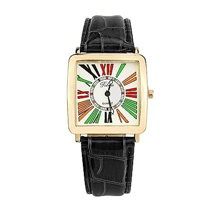 sportsmanship Vintage Square Women Watches Casual Female Leather Quartz Wrist Watch Retro Design Ladies Watch Relojes