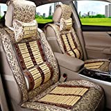 Cushion Car Seat Cushion Pad - Breathable Seat Cover - Car Interior Car Accessories - Massage Lumbar Pillow - 2PCS Front Seat Cover and 1PCS Long Rear Seat Cover Cushion (Color : A)