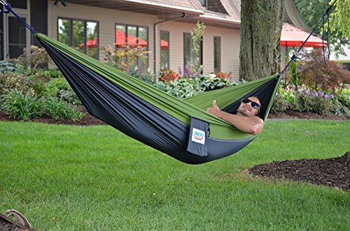 Amazon Happy Times Single One Person Nylon Parachute Camping