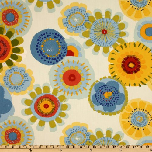 Upholstery Fabric Yellow and Blue: Amazon.com