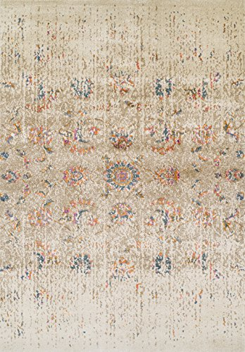 "picture of Dalyn Antiquity Area Rug AQ530 Aq530 Ivory Ivory Vines Petals 7' 10"" x 10' 7"" Rectangle"